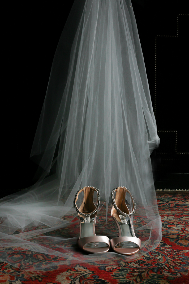 Modern traditional blended styled shoot new york heels and veil