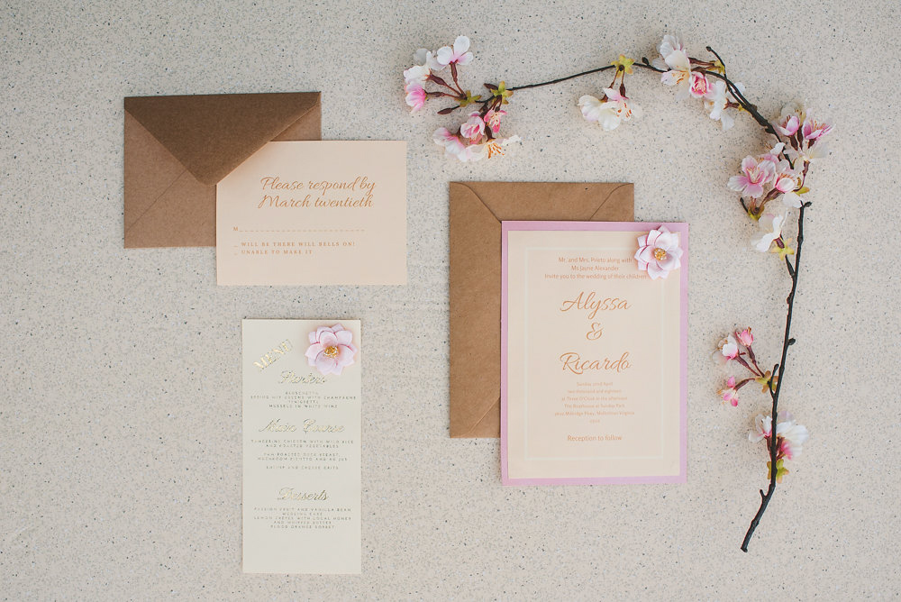 wedding inspiration the boathouse at sunday park midlothian virginia invitations with cherry blossoms