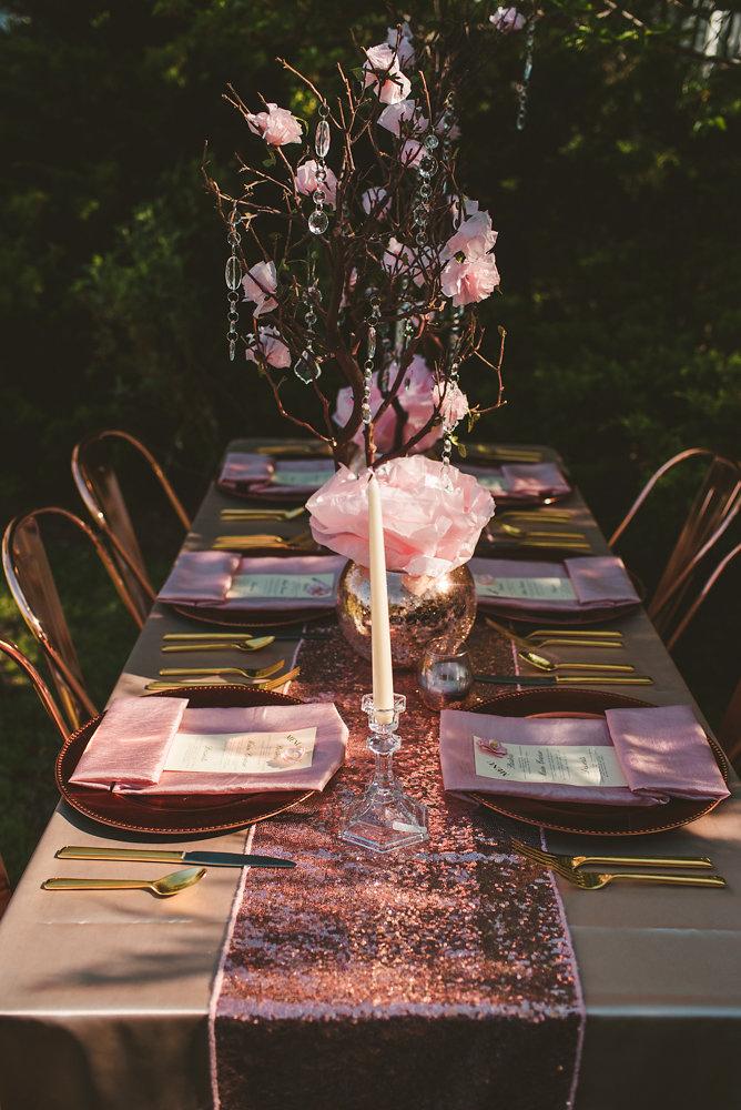 wedding inspiration the boathouse at sunday park midlothian virginia table with setting sunlight