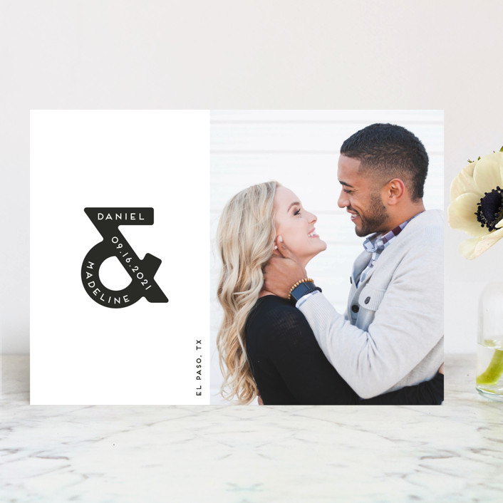 Ampersand Us Save the Date by Gwen Bedat