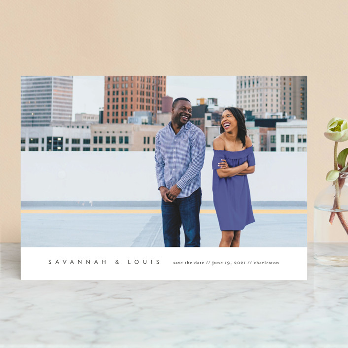 Atmospheric Save the Date by Jennifer Postorino