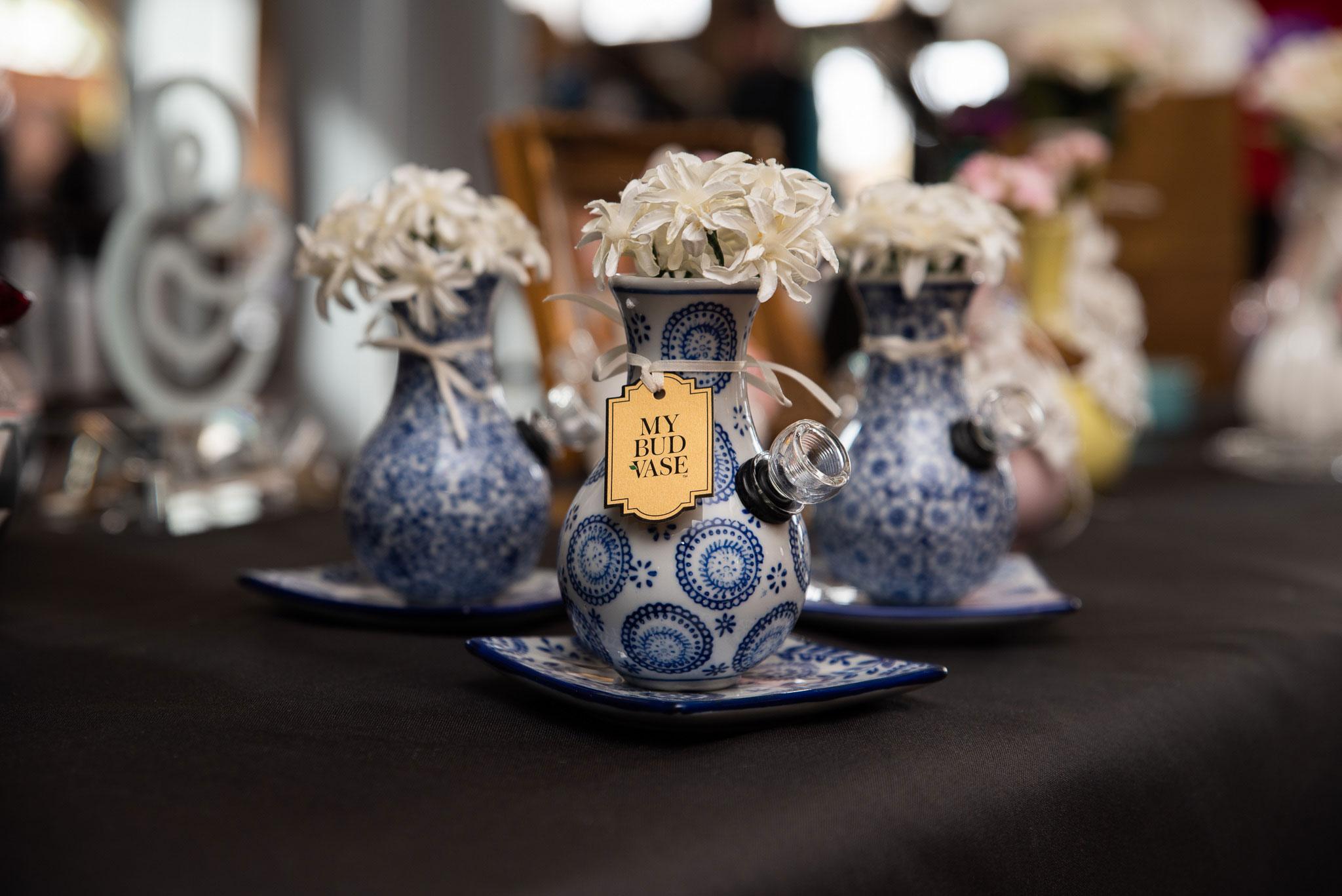My Bud Vase at the Cannabis Wedding Expo in Denver, Colorado. Photo by Kenesha Facello.