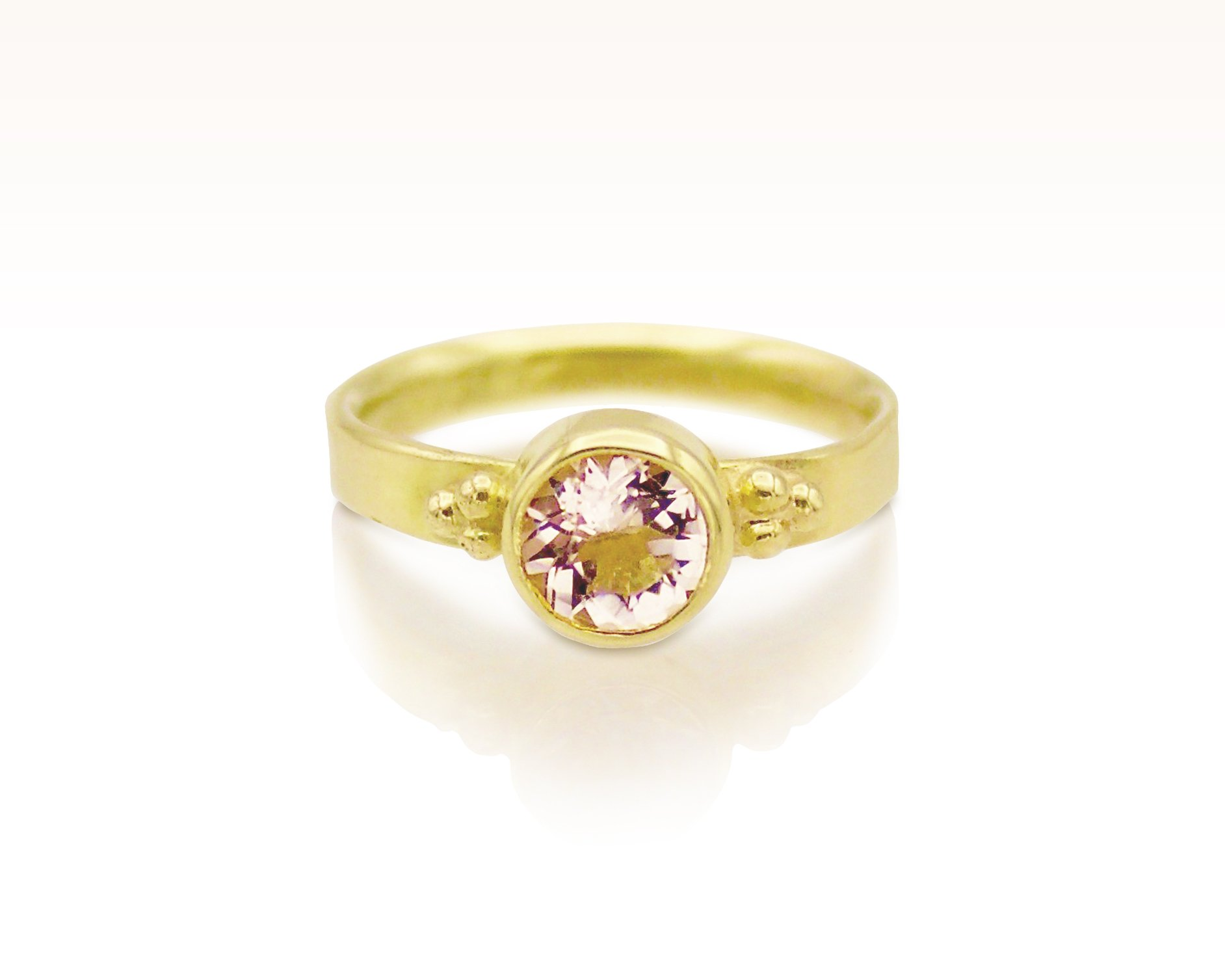 Blush Pink Morganite Solitaire by Forge and Fountain