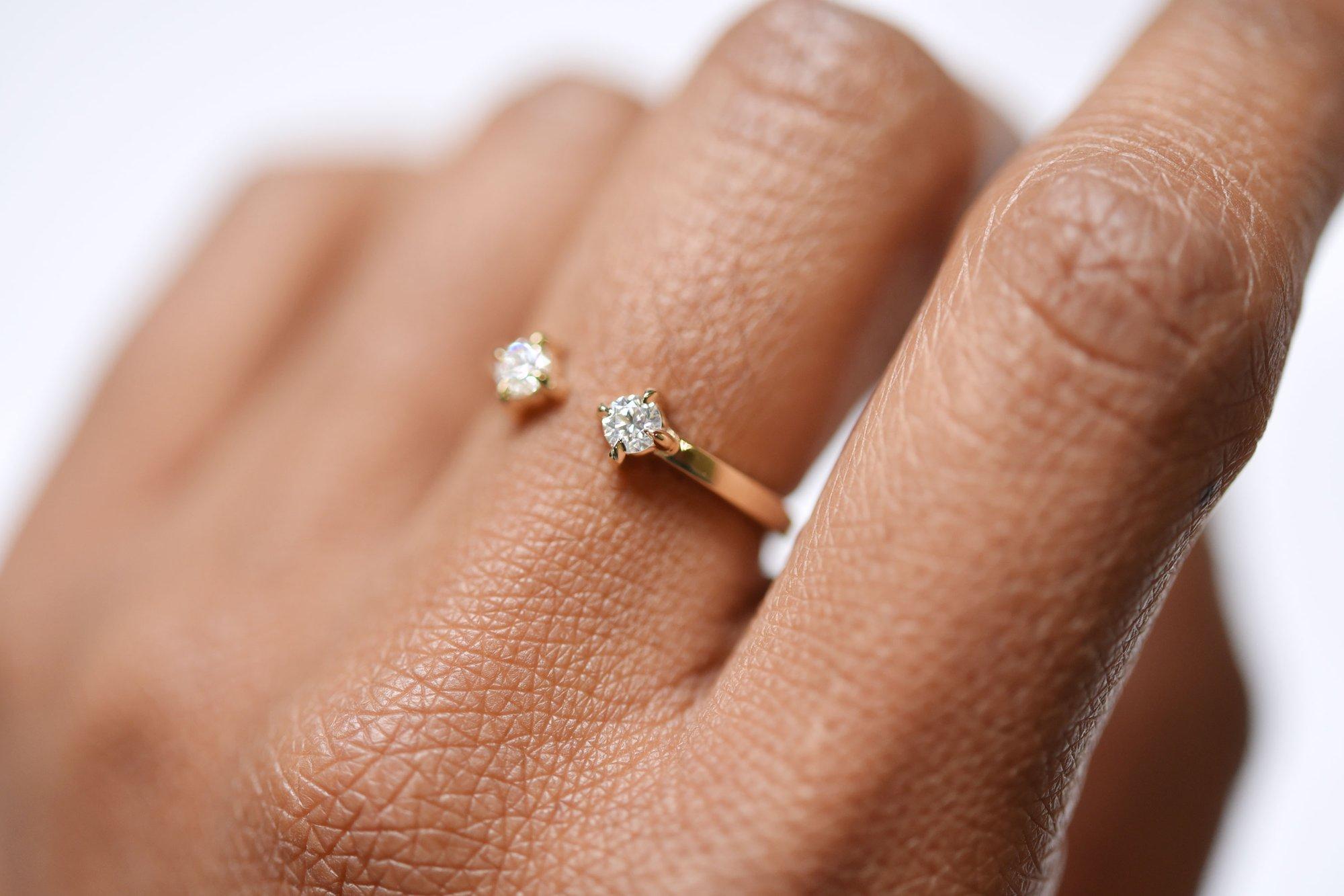 Dua Diamond Band by Valerie Madison Jewelry