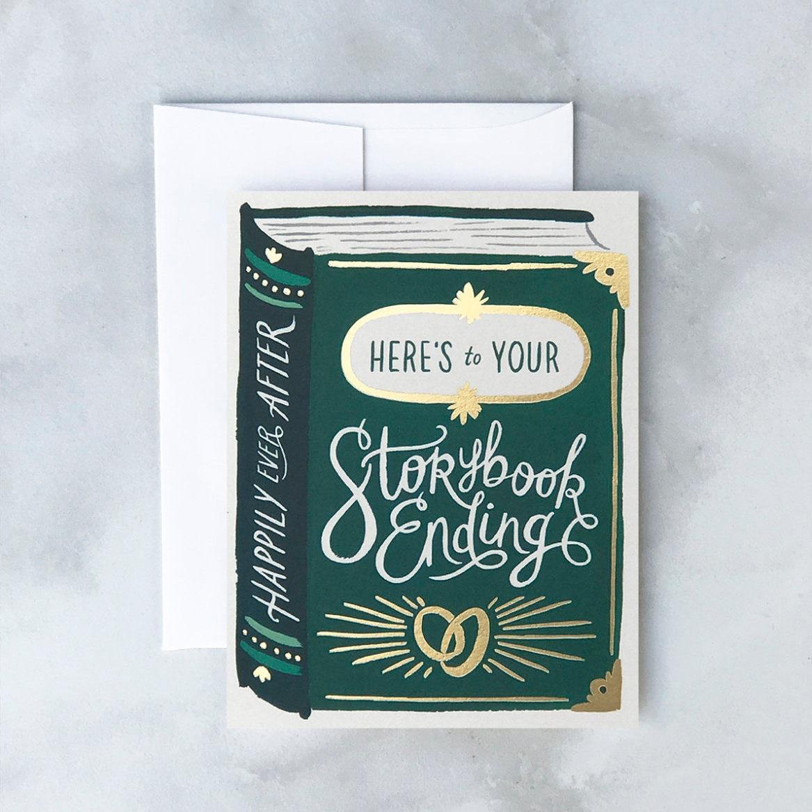 Storybook Ending Wedding Greeting Card by Idlewild Co.