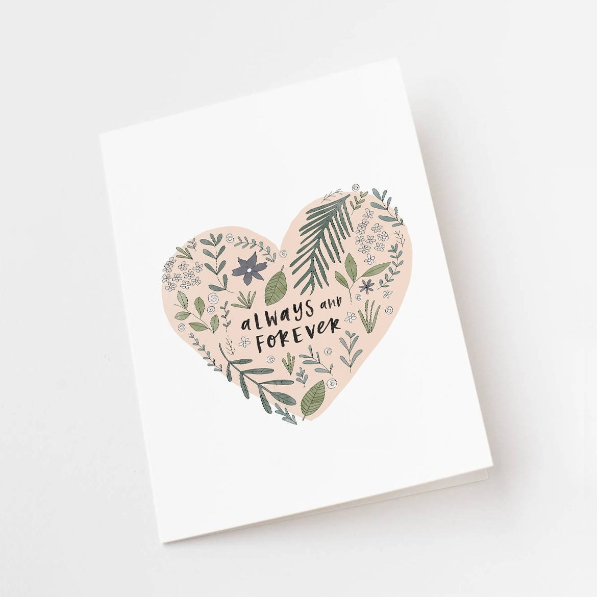 Always and Forever Wedding Greeting Card by In the Daylight Shop