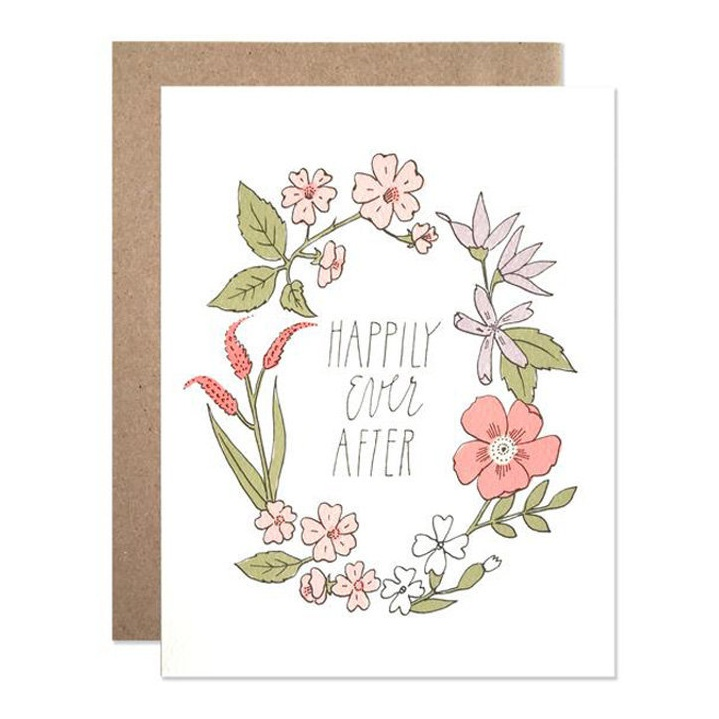 Happily Every After Wedding Greeting Card by Hartland Brooklyn