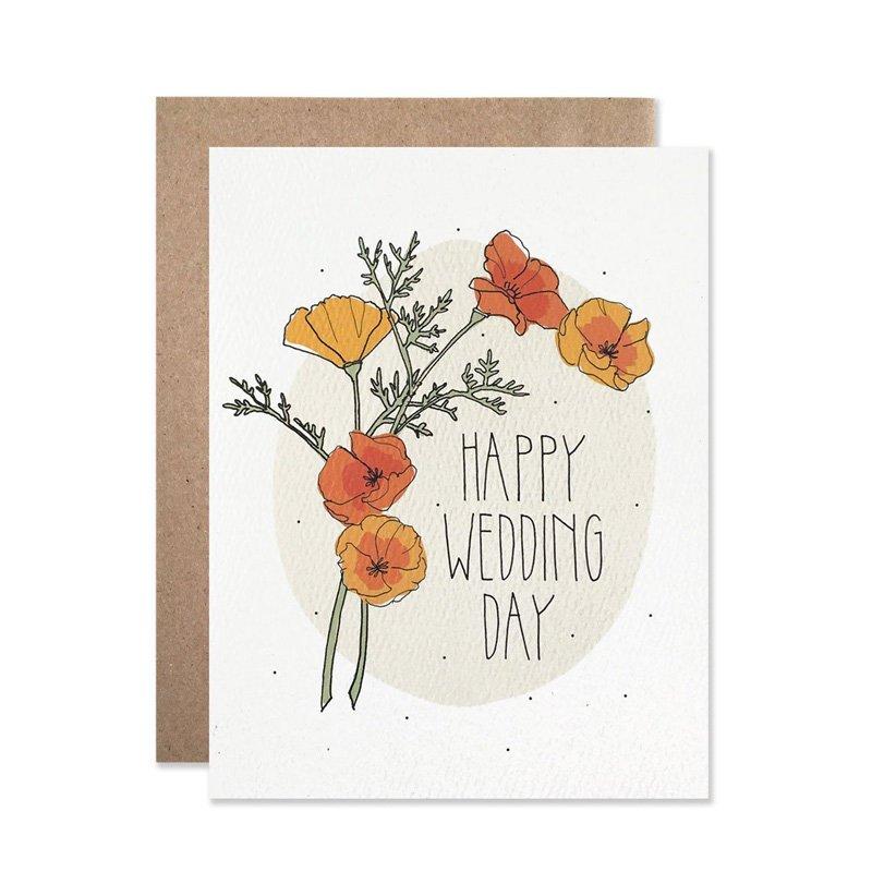 Happy Wedding Day Greeting Card by Hartland Brooklyn