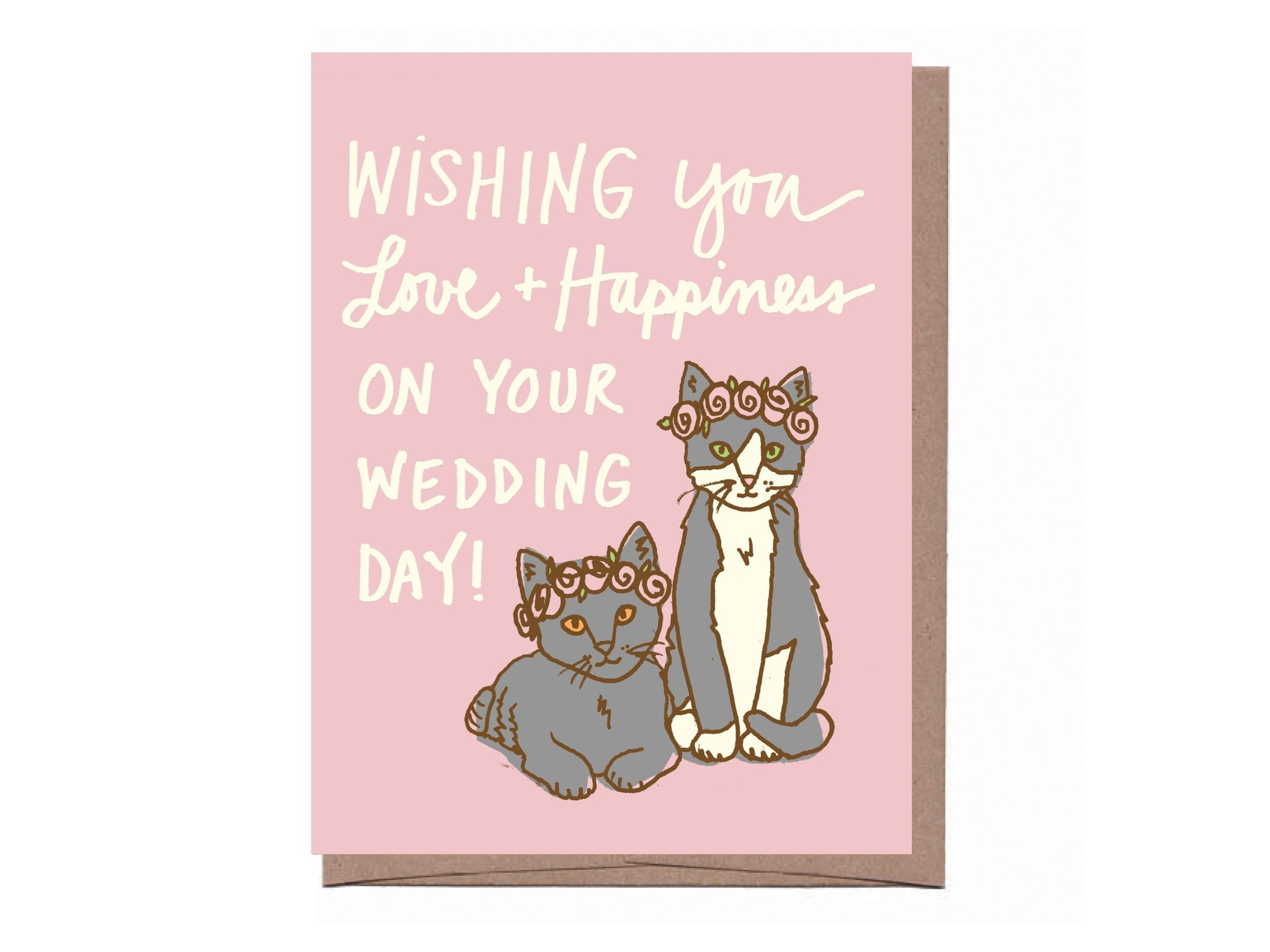 Wedding Kittens Greeting Card by La Familia Green