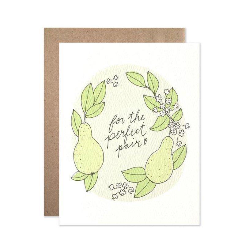 Perfect Pair Wedding Greeting Card by Hartland Brooklyn