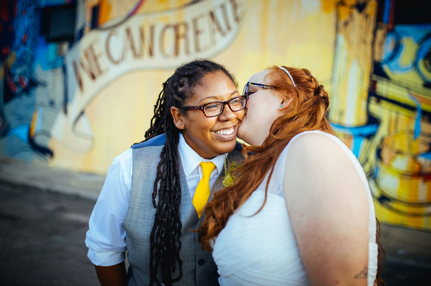 Molly + Tricia's Richmond, Virginia Elopement . Photo by  Shawnee C Photography