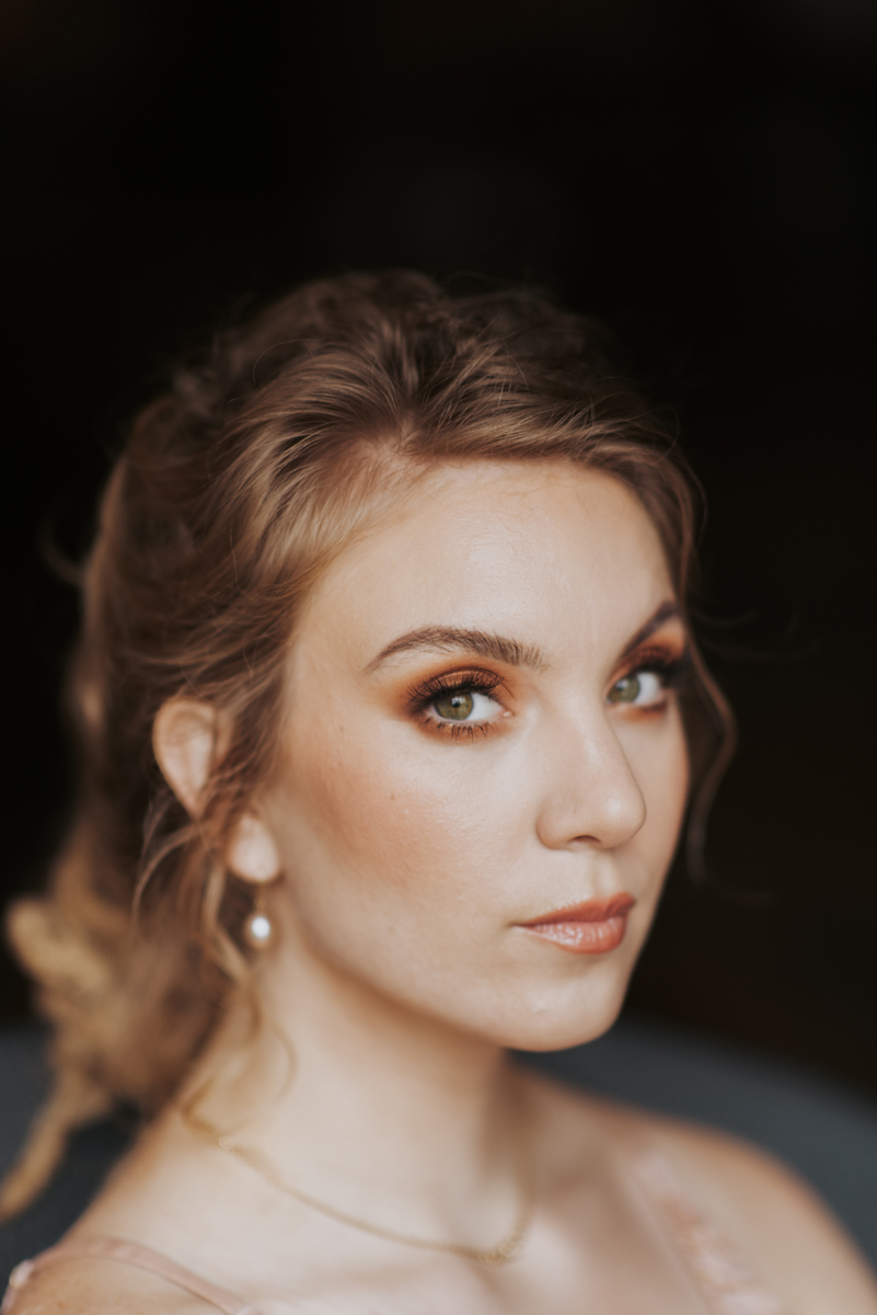vintage vegan glam in Washington DC HFB Photography headshot of bridesmaid
