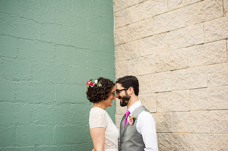 newlywed couple look into each other's eyes after their wedding in Atlanta Georgia You Are Raven Wedding Photography