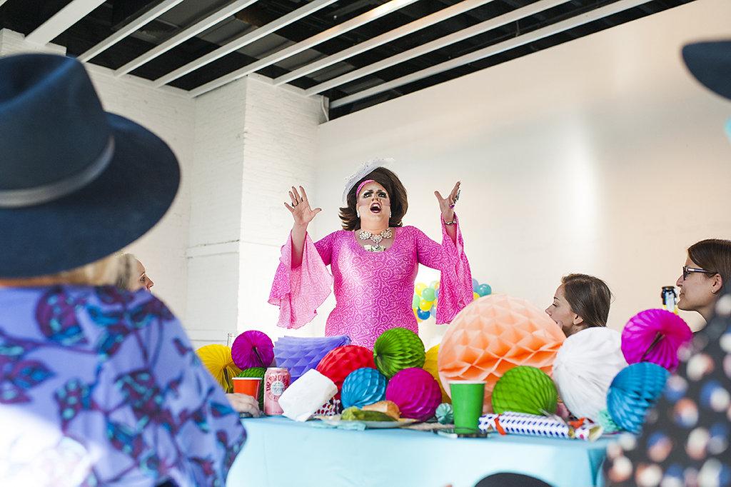 Drag performer Lauren Ordair.  Photo by Jonica Moore Studio.