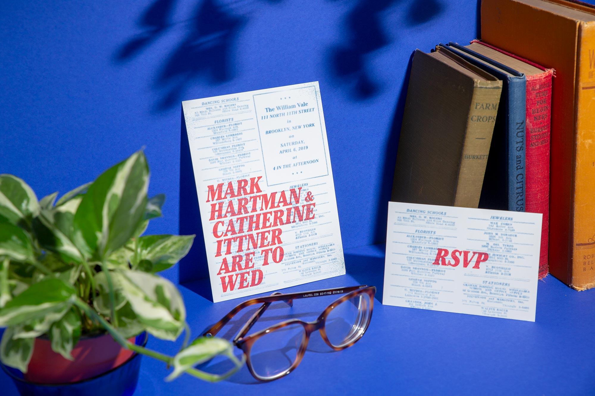 classified graphic design gender-inclusive wedding invitation suite design by ephemora