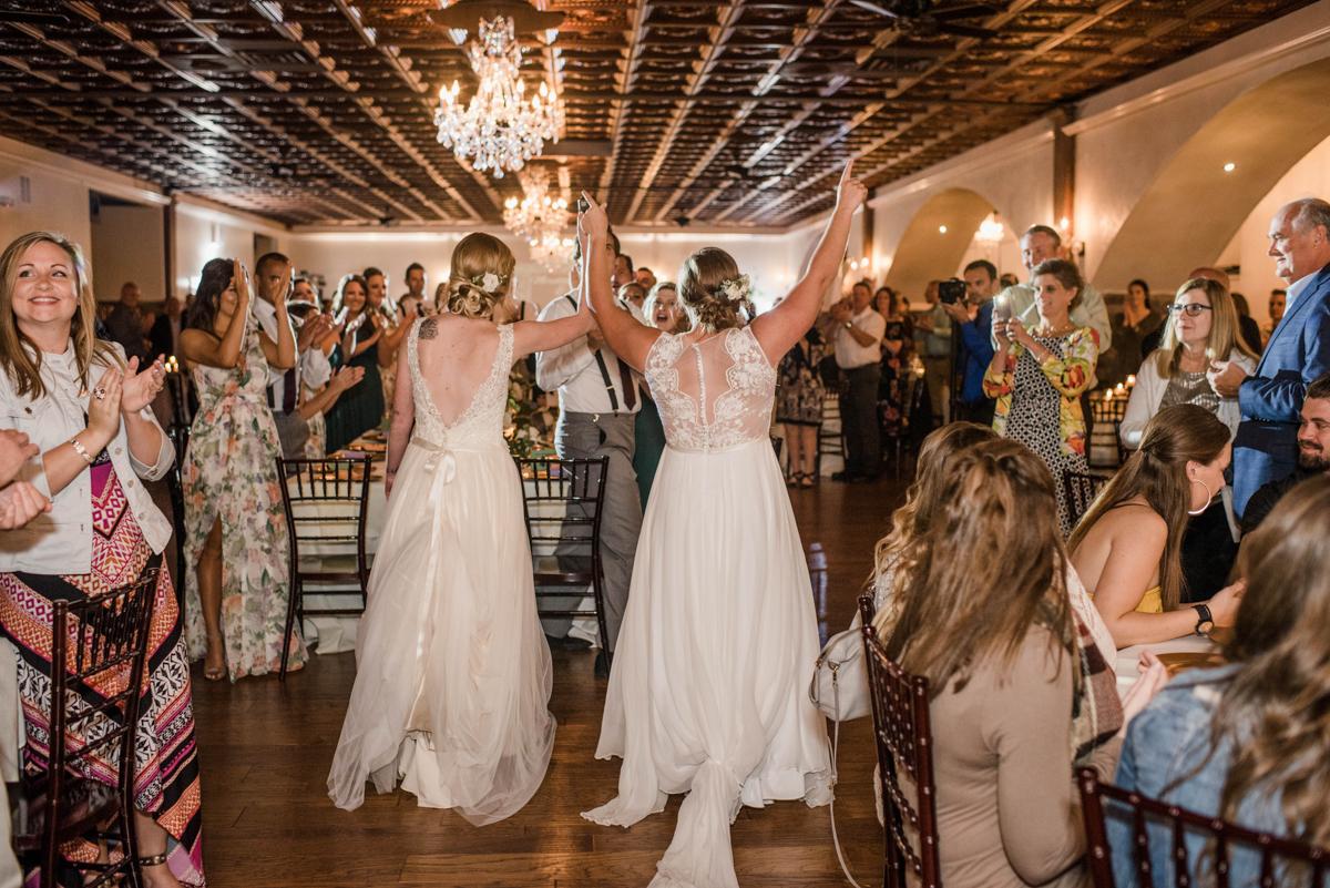 PAVILION WEDING KANSAS CITY MISSOURI Hey Tay Photography brides entering reception