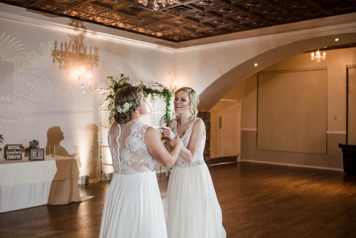 PAVILION WEDING KANSAS CITY MISSOURI Hey Tay Photography brides on dance floor