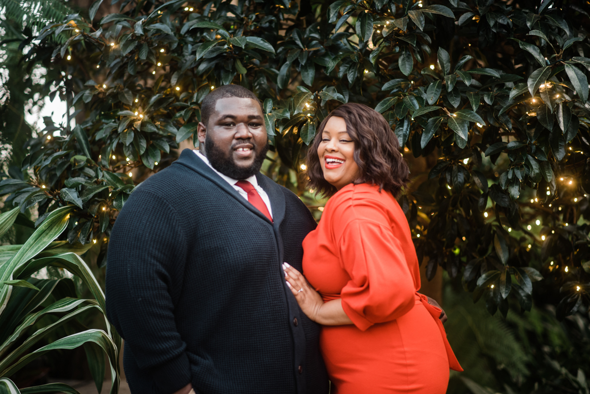 longwood gardens engagement kennett square pennsylvania sgw photography couple in front of trees