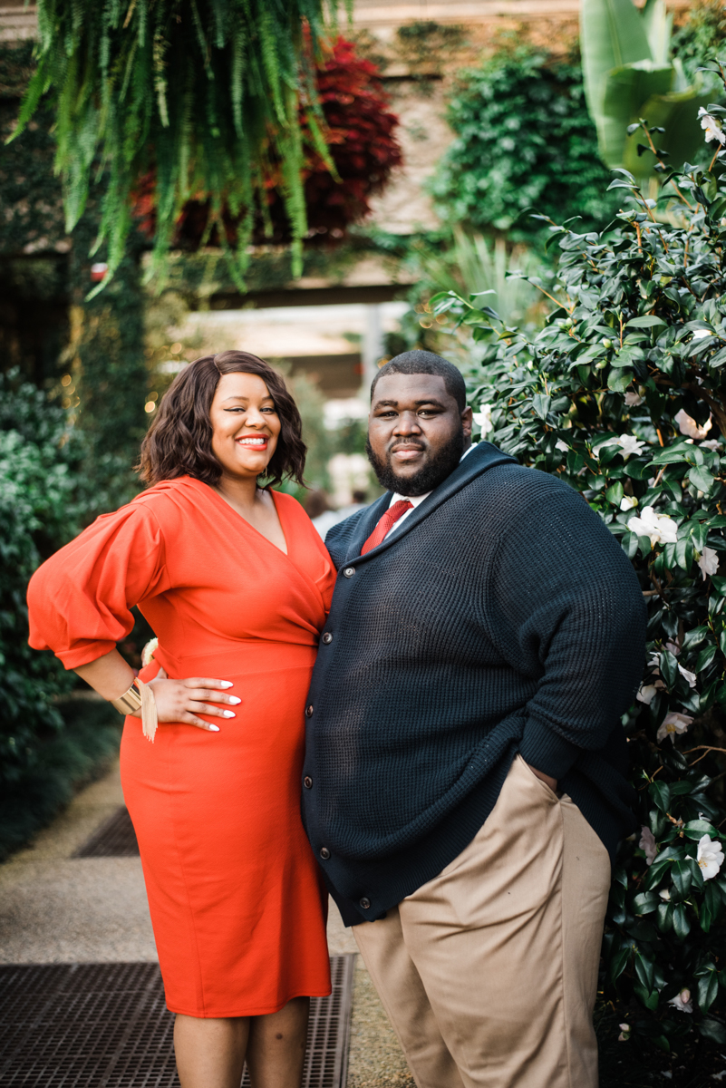 longwood gardens engagement kennett square pennsylvania sgw photography couple on path under hanging plants