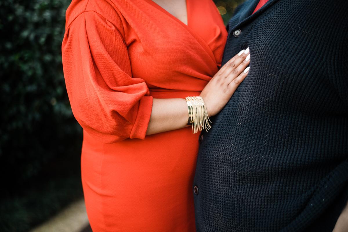longwood gardens engagement kennett square pennsylvania sgw photography yasmine's hand on angelo's chest