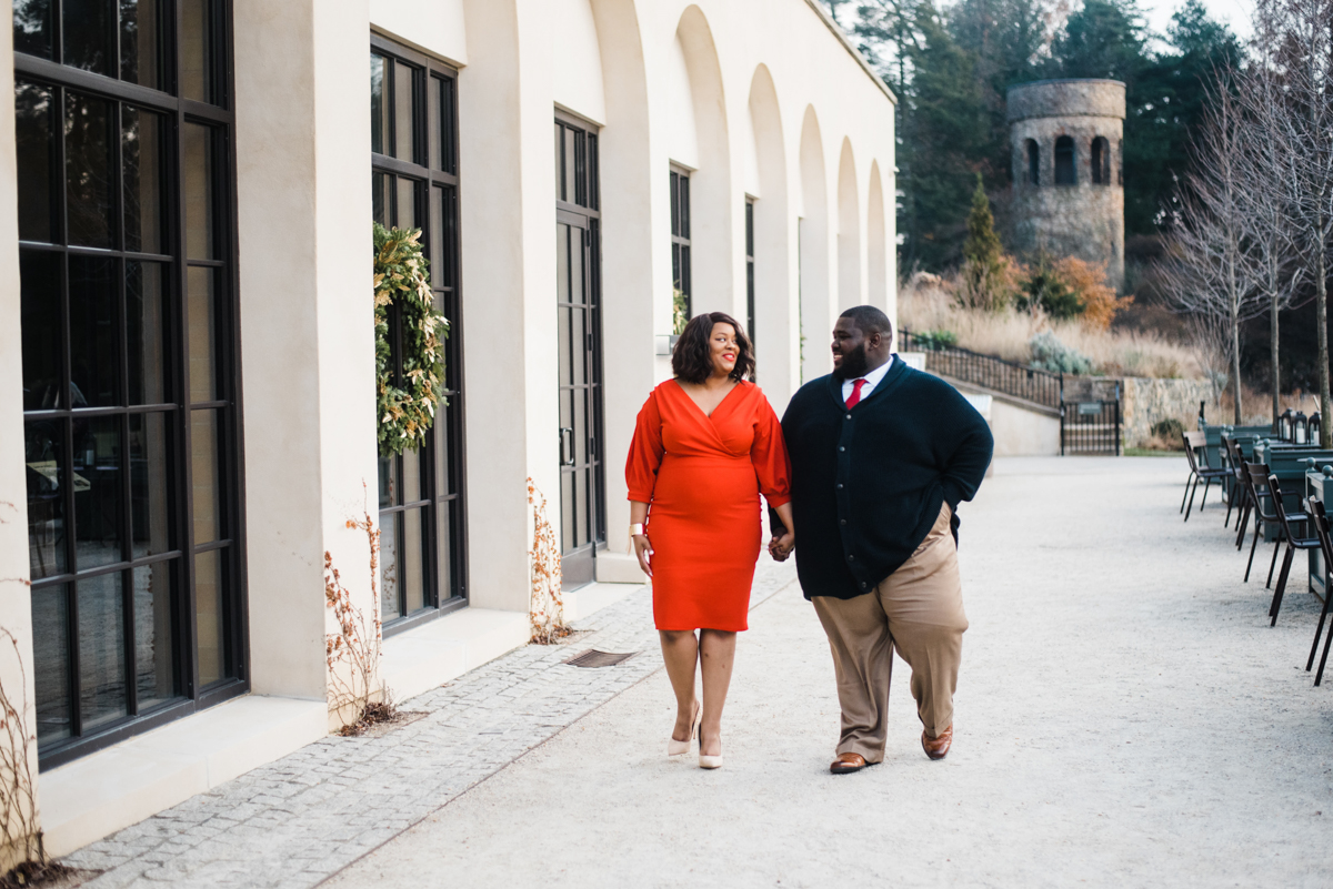 longwood gardens engagement kennett square pennsylvania sgw photography couple walking holding hands