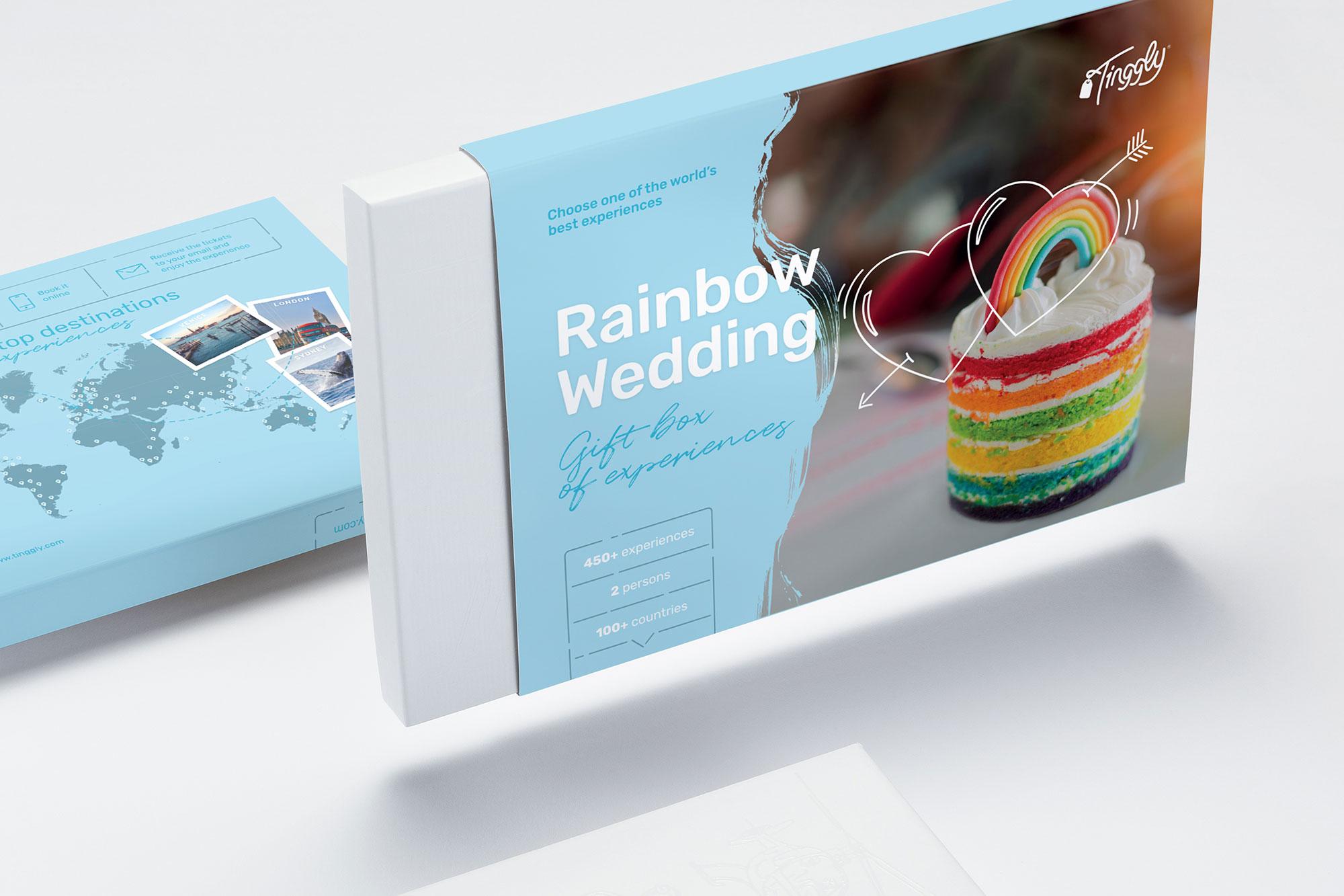 Rainbow Wedding LGBTQ+ friendly gift box by Tinggly