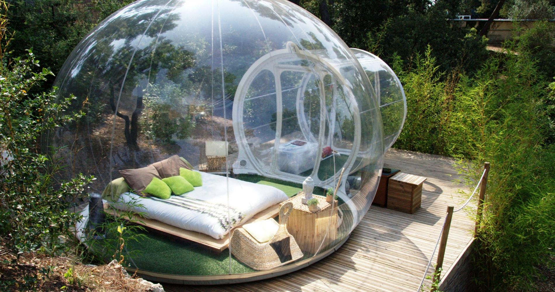 stargazing overnight in a bubble hotel honeymoon experience in france