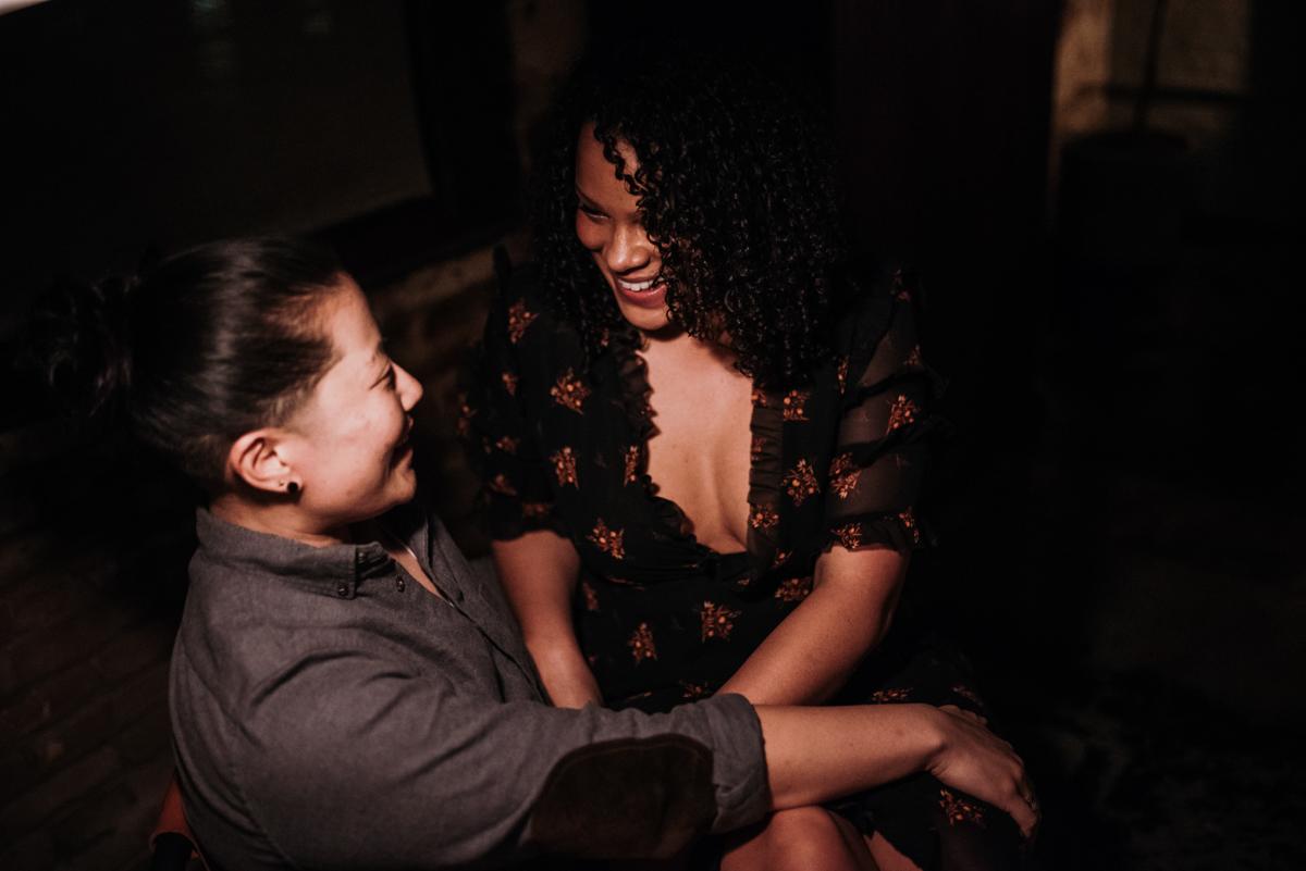 surprise proposal wm. mulherin's sons hotel philadelphia pennsylvania lauren driscoll photography couple laughing