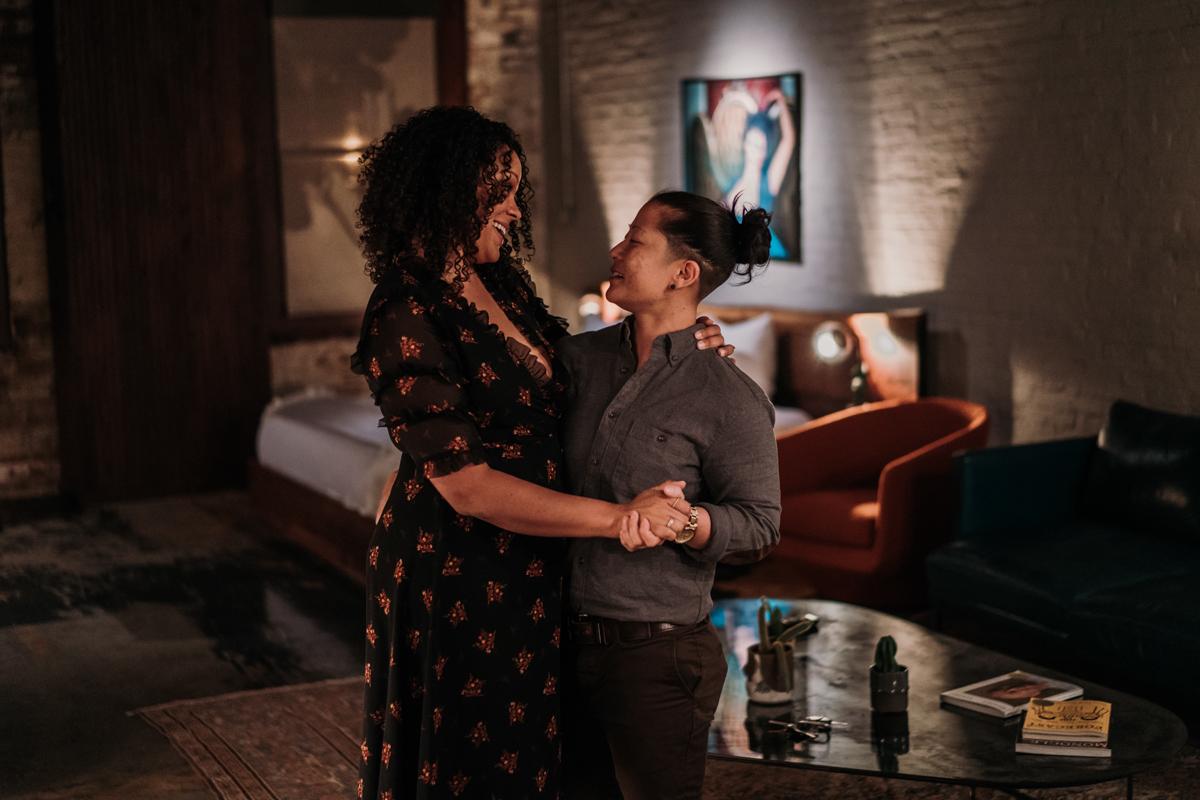 surprise proposal wm. mulherin's sons hotel philadelphia pennsylvania lauren driscoll photography couple dancing