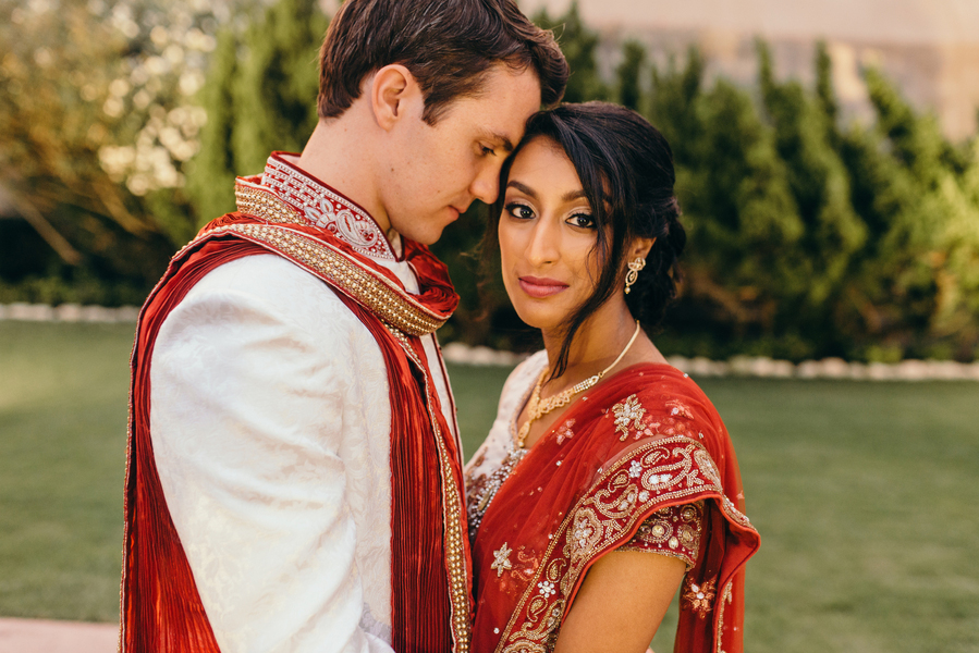 Jessica and Ryan's Indian American wedding in Galveston Texas