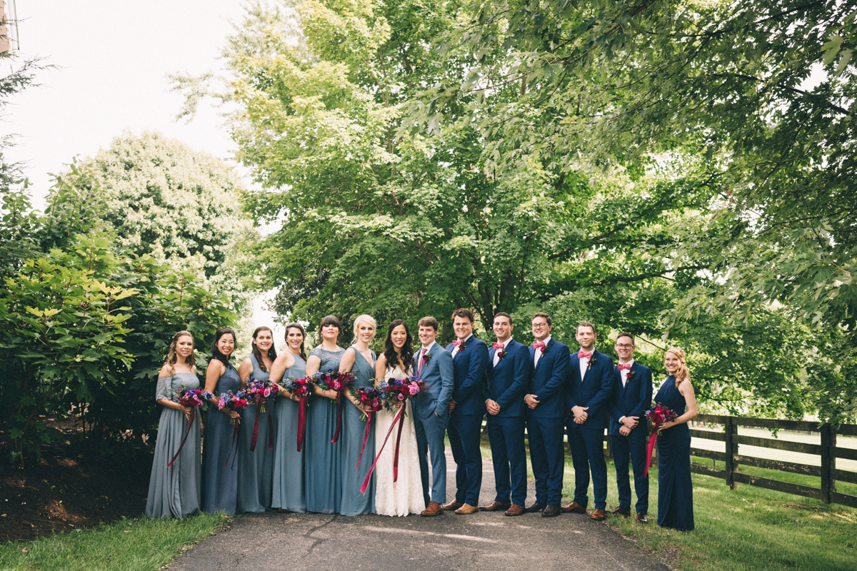 Warrenwood manor danville kentucky wedding sarah katherine davis wedding party on path