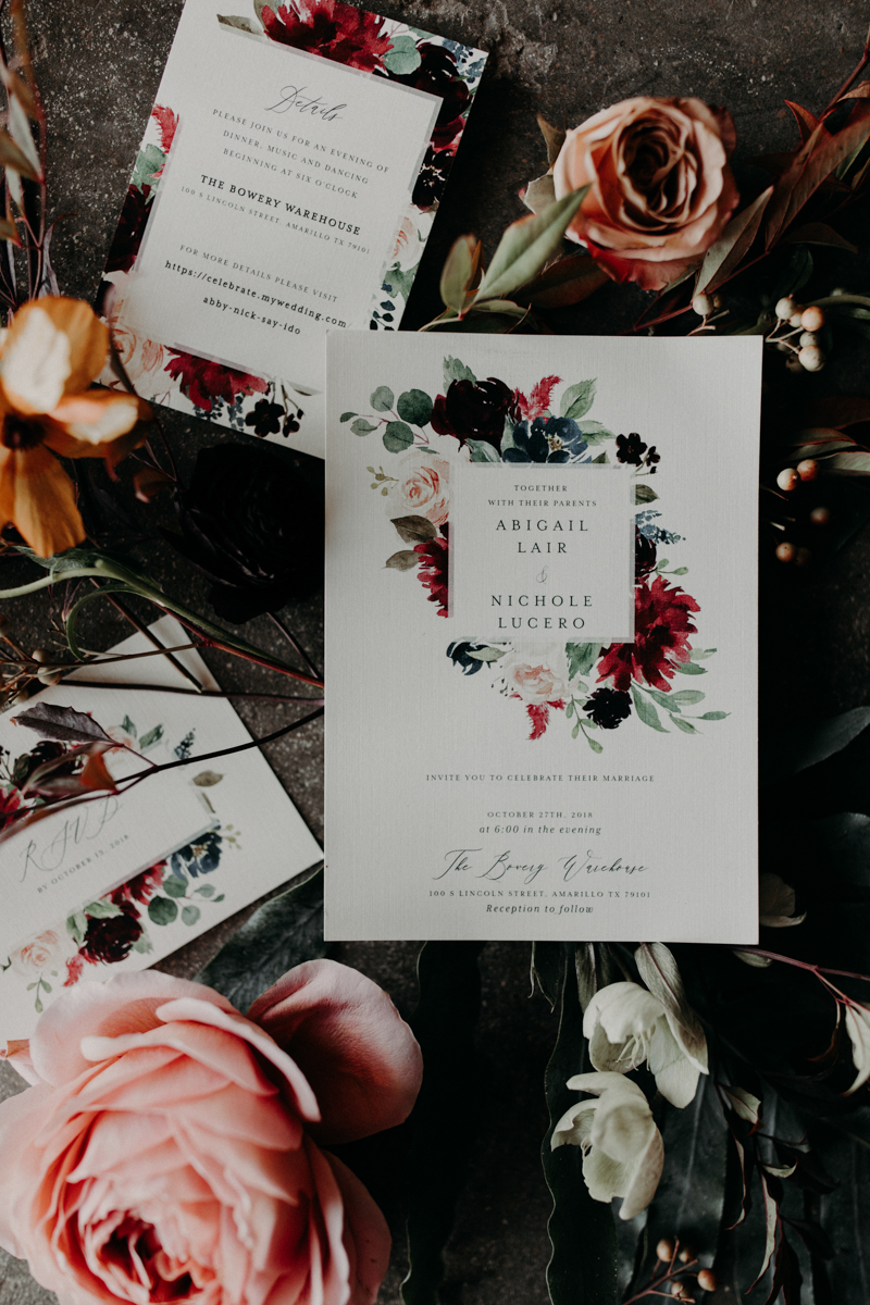 ABBY AND NICK WEDDING AMARILLO TX RITTER COLLECTIVE PHOTOGRAPHY ETSY WEDDING INVITATIONS AND FLOWERS