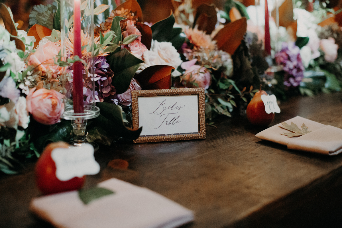 ABBY AND NICK WEDDING AMARILLO TX RITTER COLLECTIVE PHOTOGRAPHY BRIDES' TABLE
