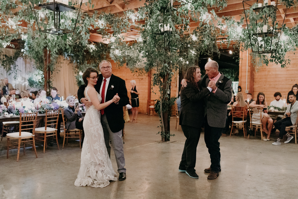 ABBY AND NICK WEDDING AMARILLO TX RITTER COLLECTIVE PHOTOGRAPHY BRIDES DANCE WITH FATHERS