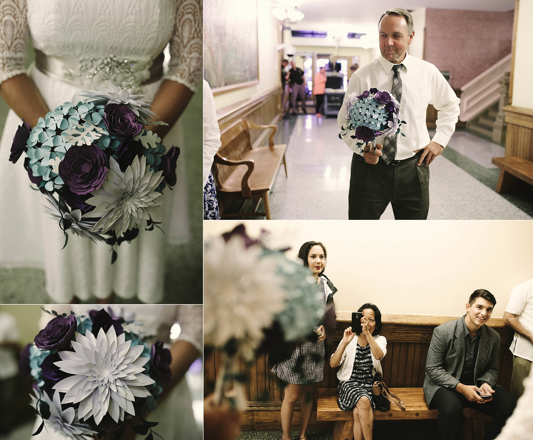 Sarah-Jean's DIY paper flower bouquet Brandi Potter Photography