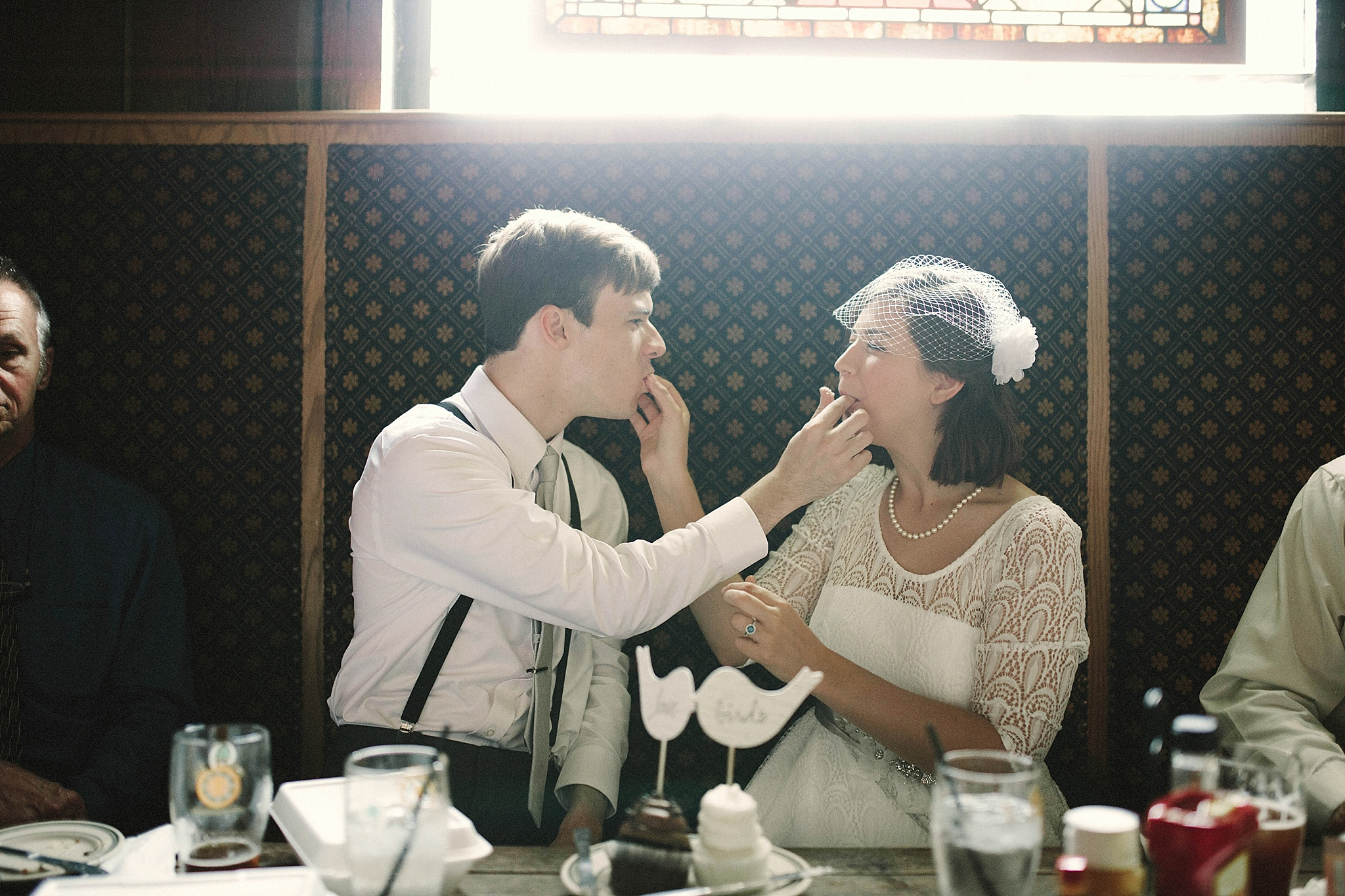 DIY cupcakes and vintage glam courthouse wedding Brandi Potter Photography
