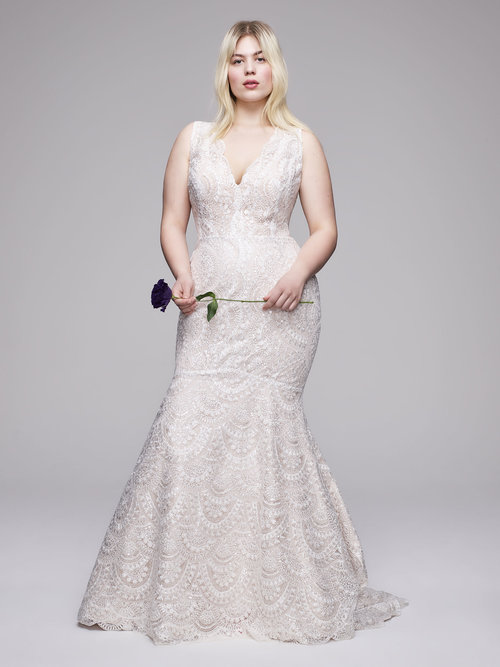 The Renzo Plus Size Wedding Dress from Curve Couture by Anne Barge