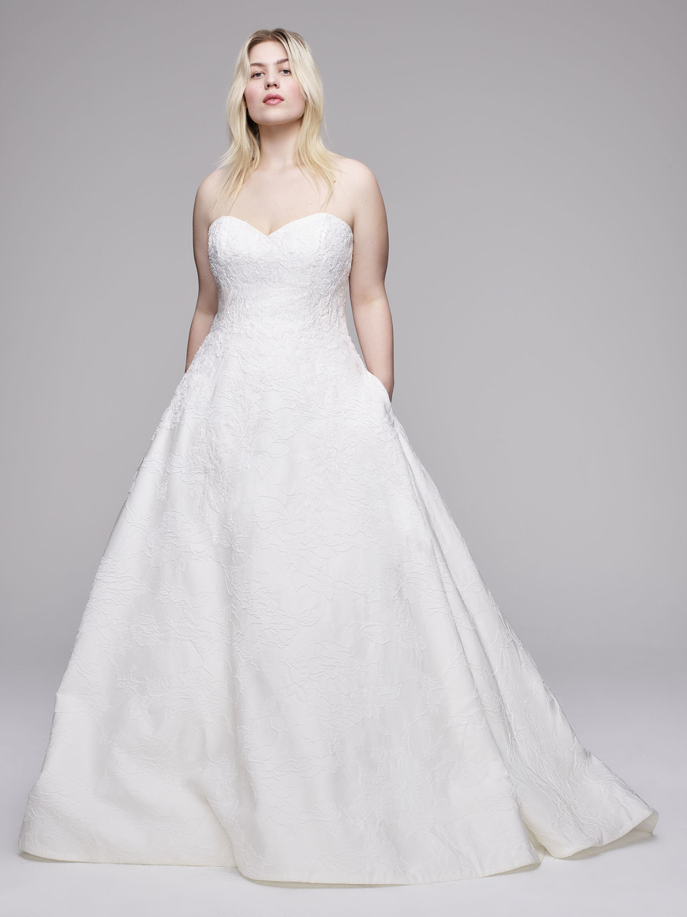 The Burton plus size wedding gown from Curve Couture by Anne Barge