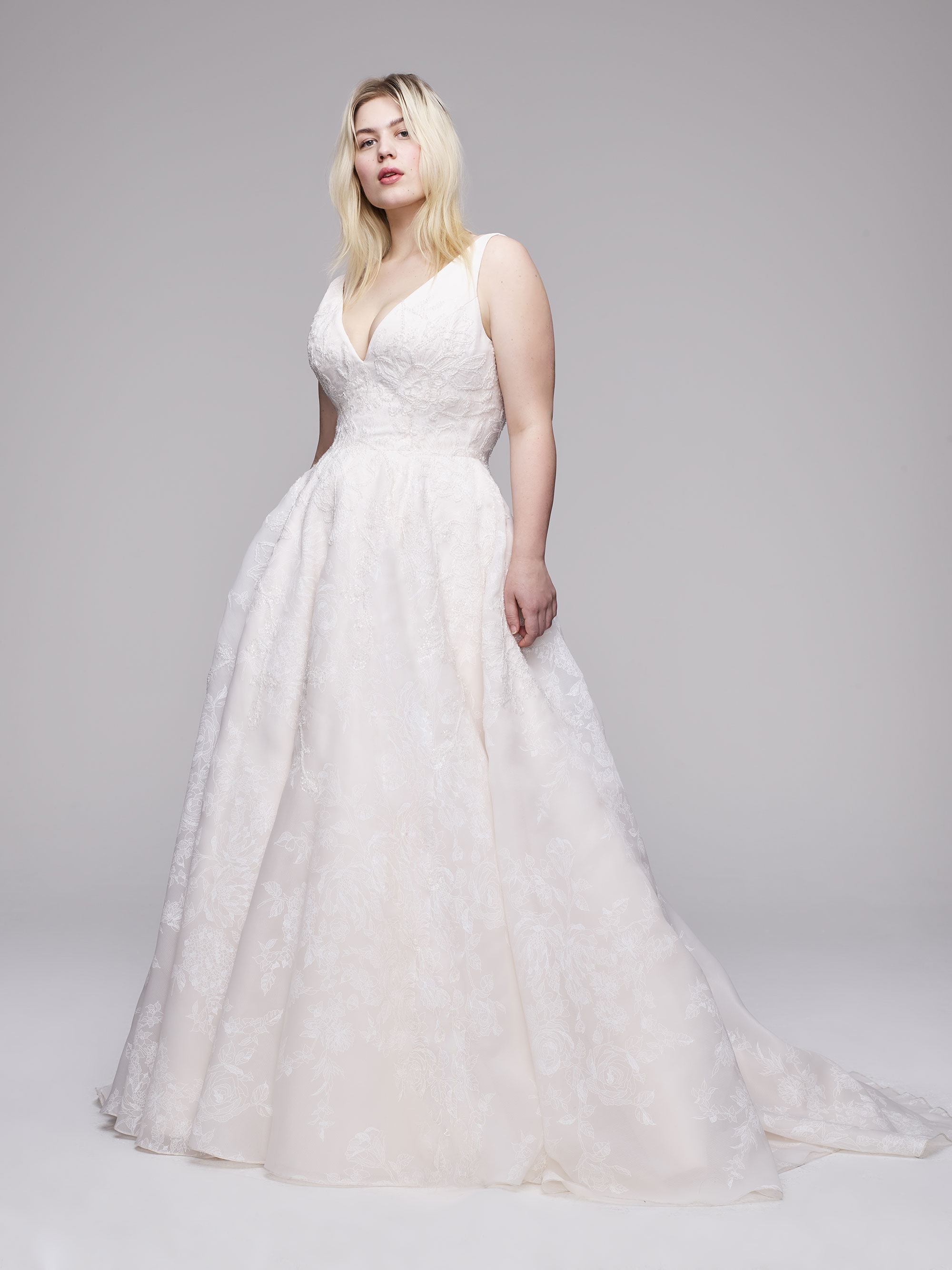 The Lupita Plus Size Wedding Gown from Curve Couture by Anne Barge