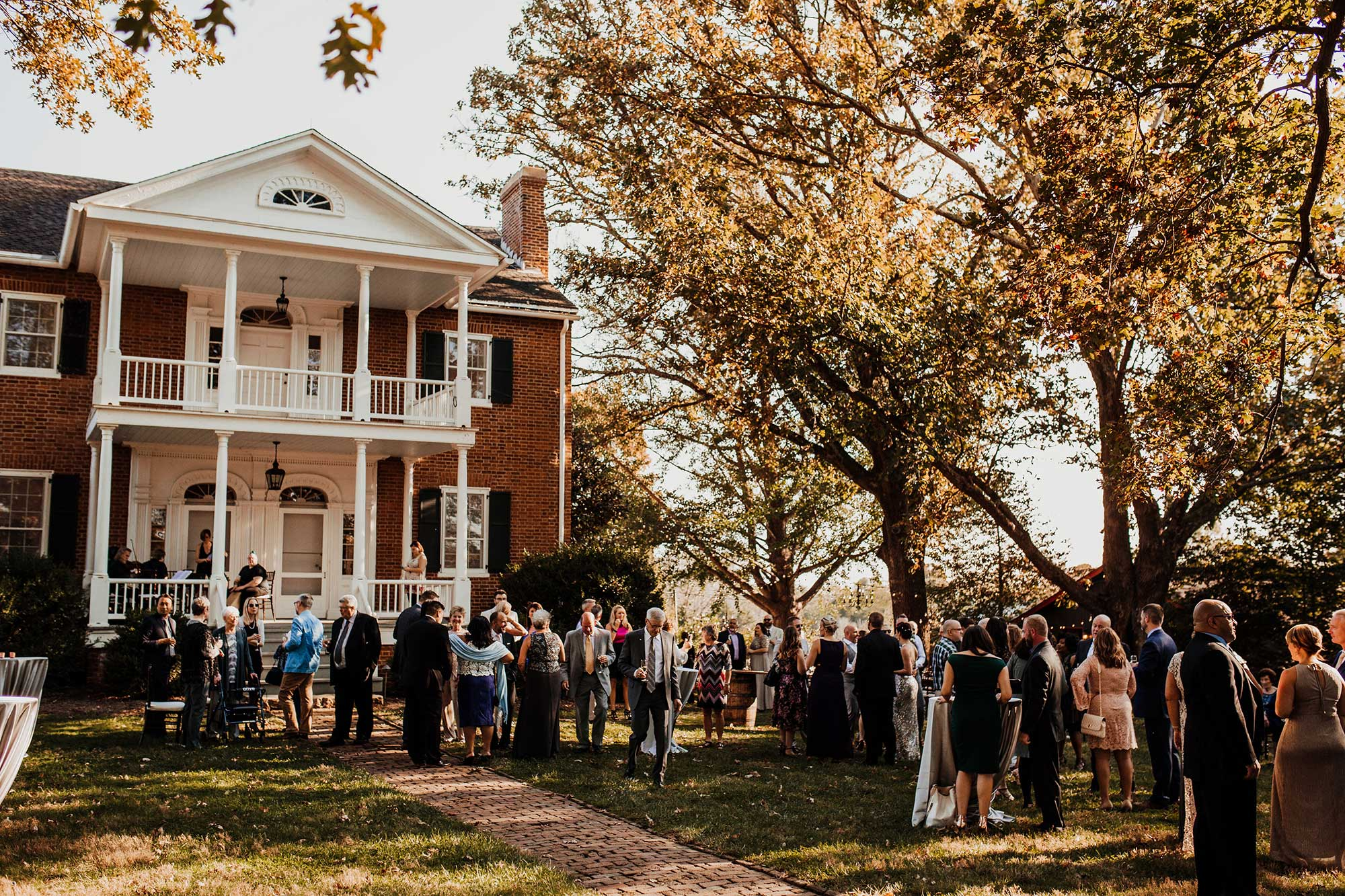 LGBTQ Louisville Kentucky Wedding at Hermitage Farm Crystal Ludwick Photo guests at pre-wedding reception