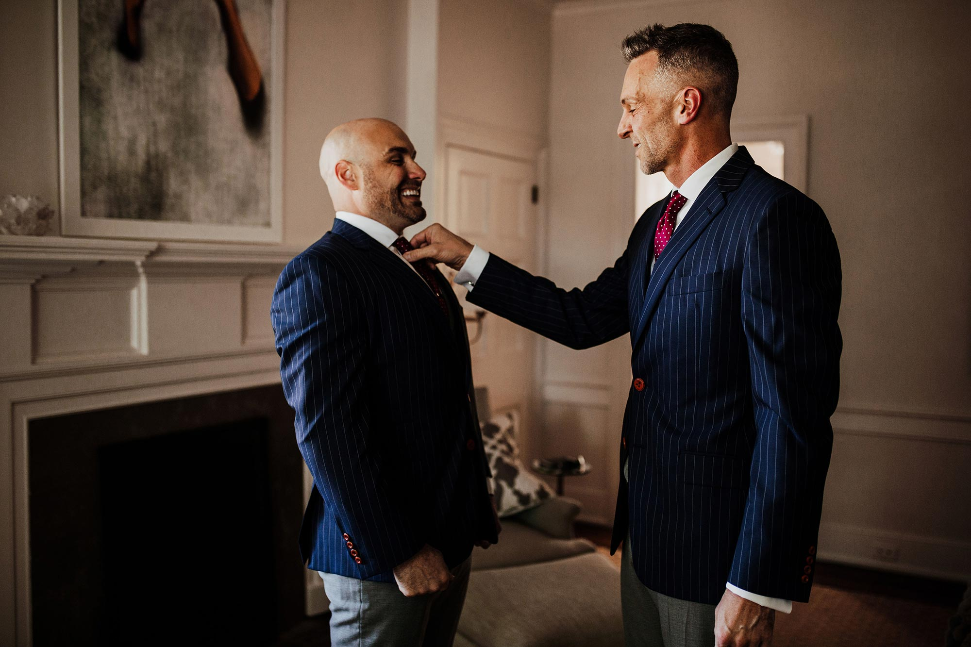 LGBTQ Louisville Kentucky Wedding at Hermitage Farm Crystal Ludwick Photo grooms in suits