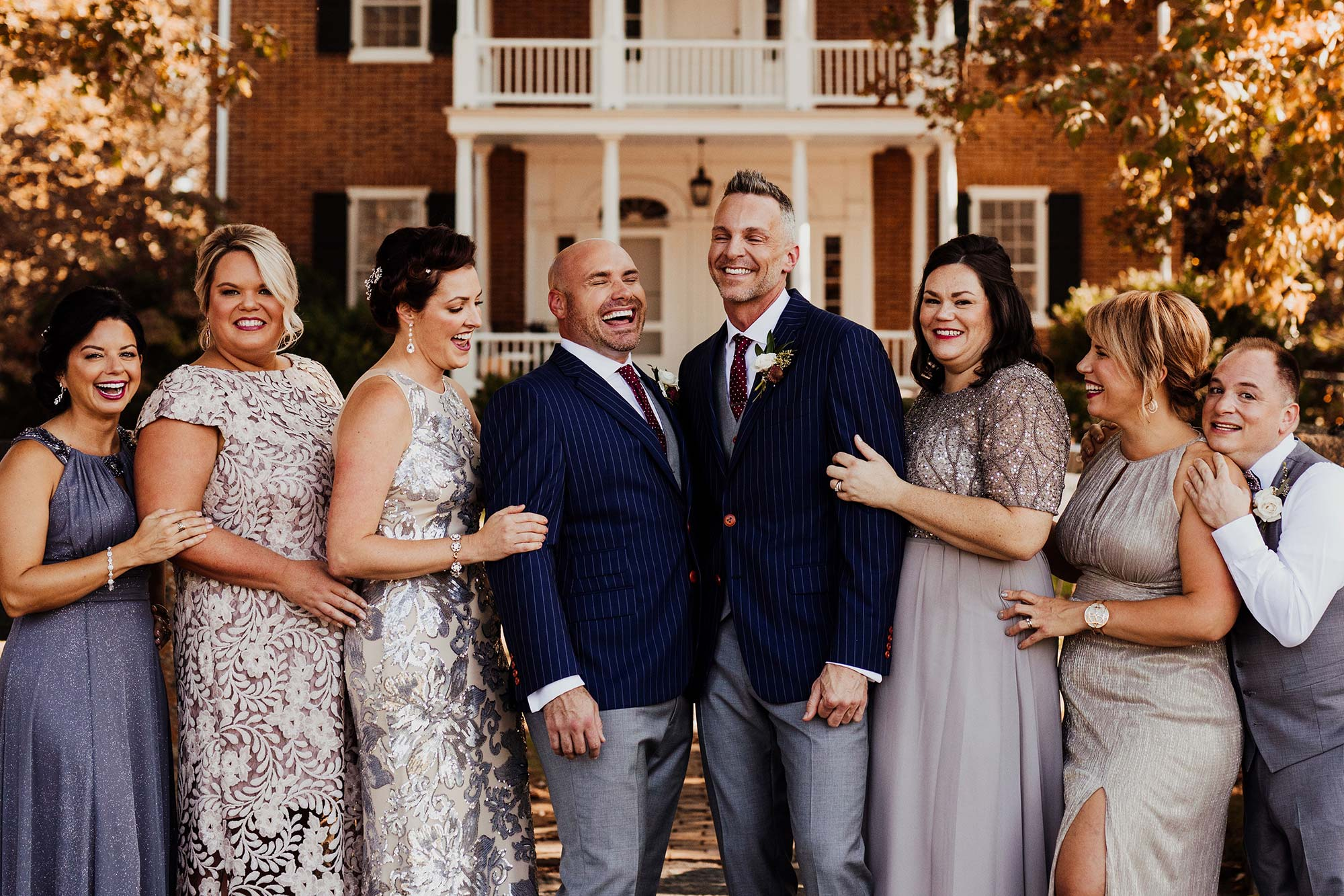 LGBTQ Louisville Kentucky Wedding at Hermitage Farm Crystal Ludwick Photo wedding party