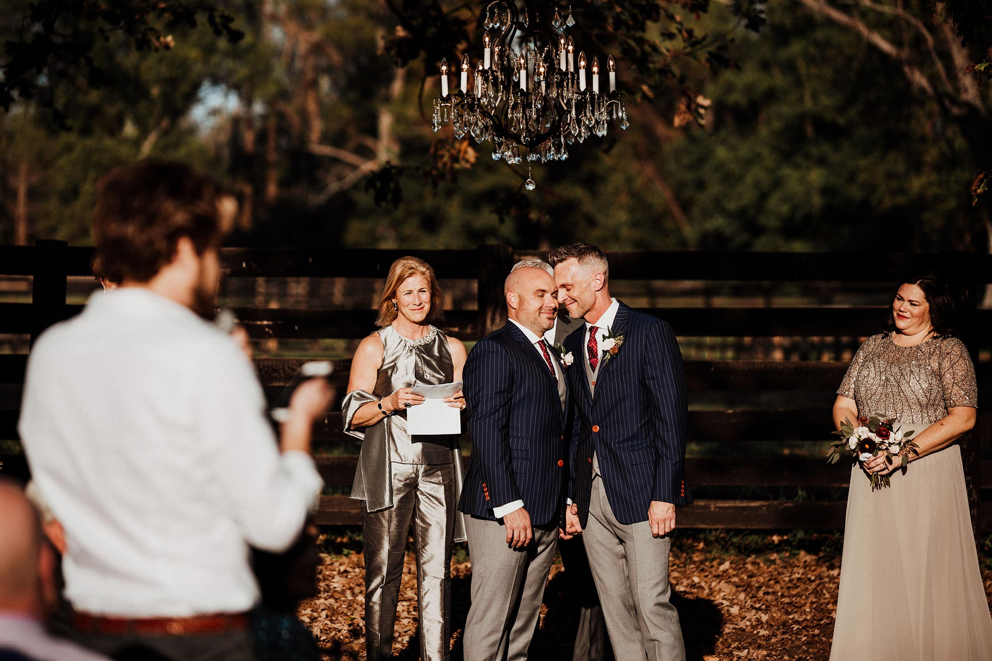 LGBTQ Louisville Kentucky Wedding at Hermitage Farm Crystal Ludwick Photo ceremony candid