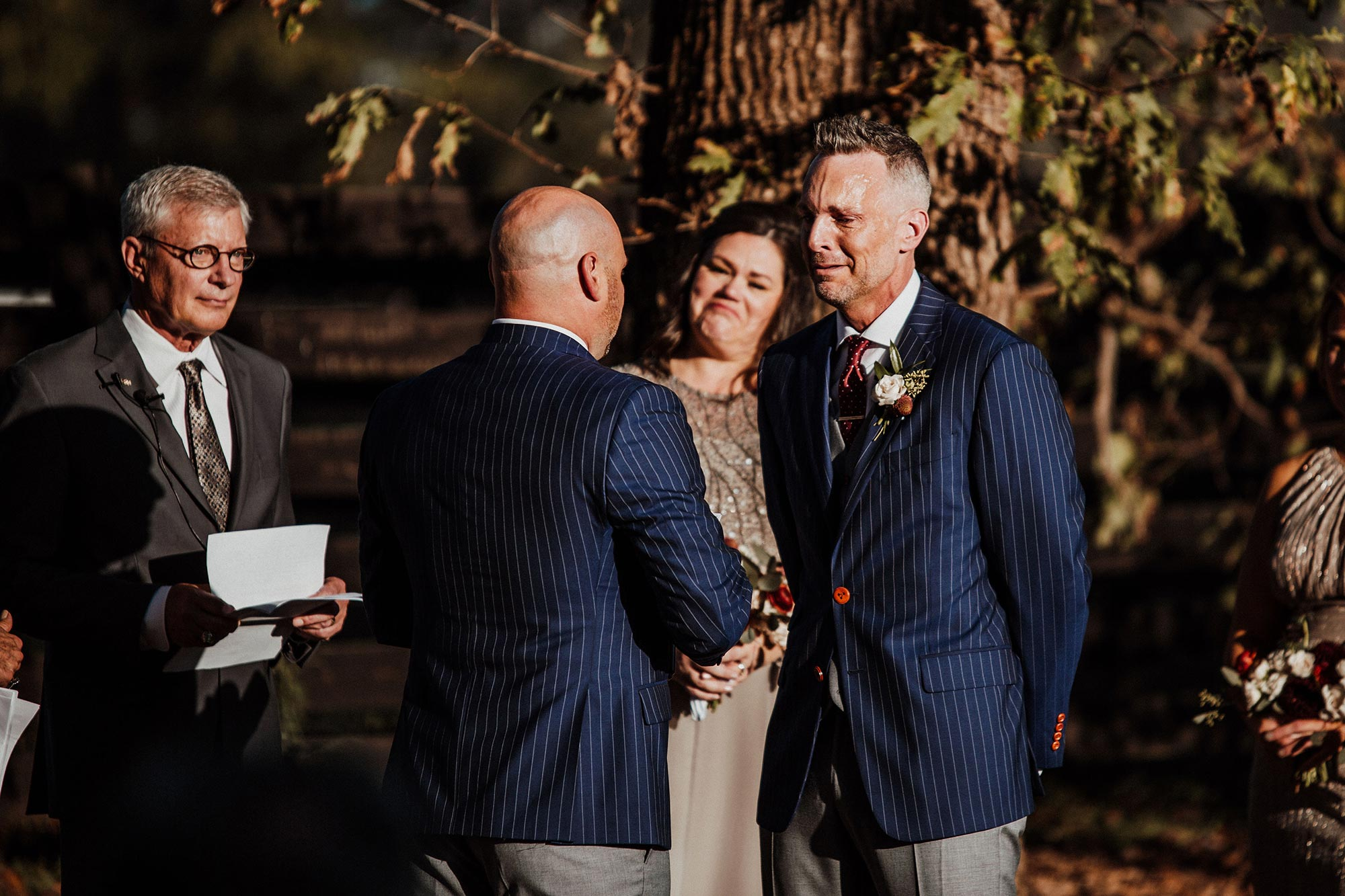 LGBTQ Louisville Kentucky Wedding at Hermitage Farm Crystal Ludwick Photo reading vows