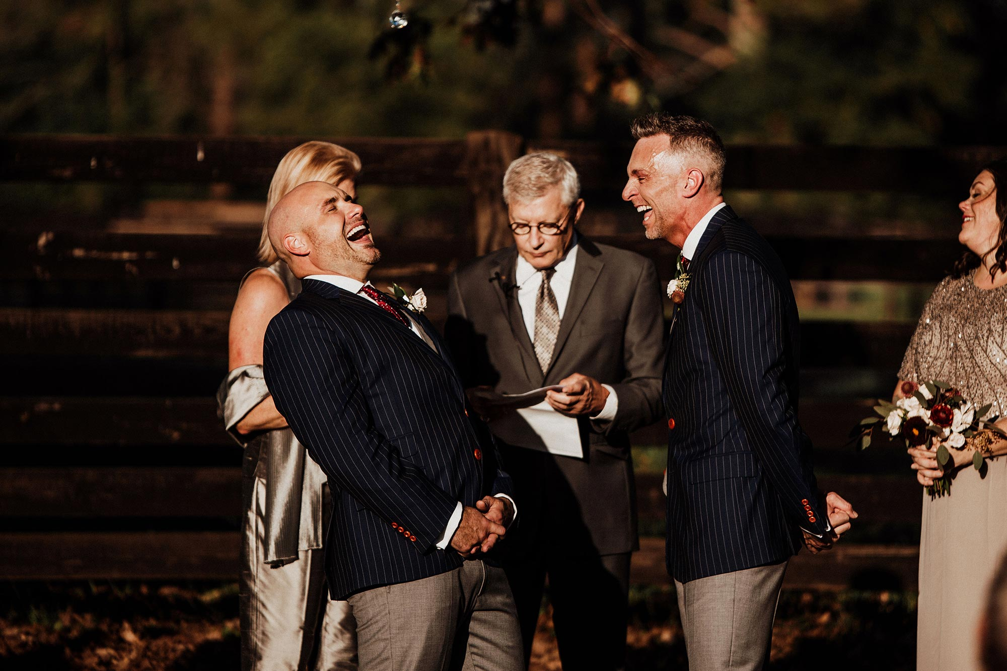 LGBTQ Louisville Kentucky Wedding at Hermitage Farm Crystal Ludwick Photo grooms laughing