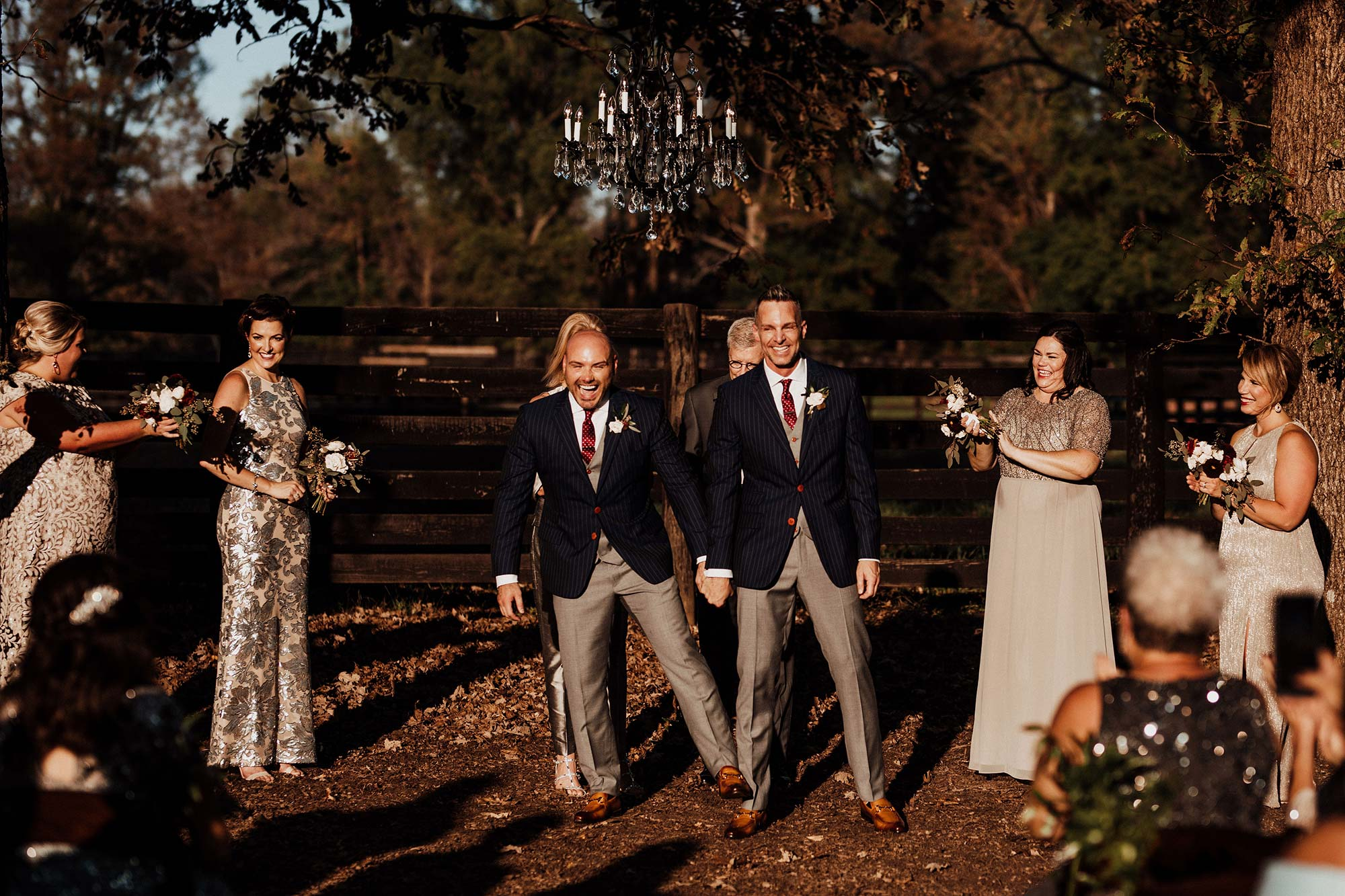 LGBTQ Louisville Kentucky Wedding at Hermitage Farm Crystal Ludwick Photo newlyweds holding hands