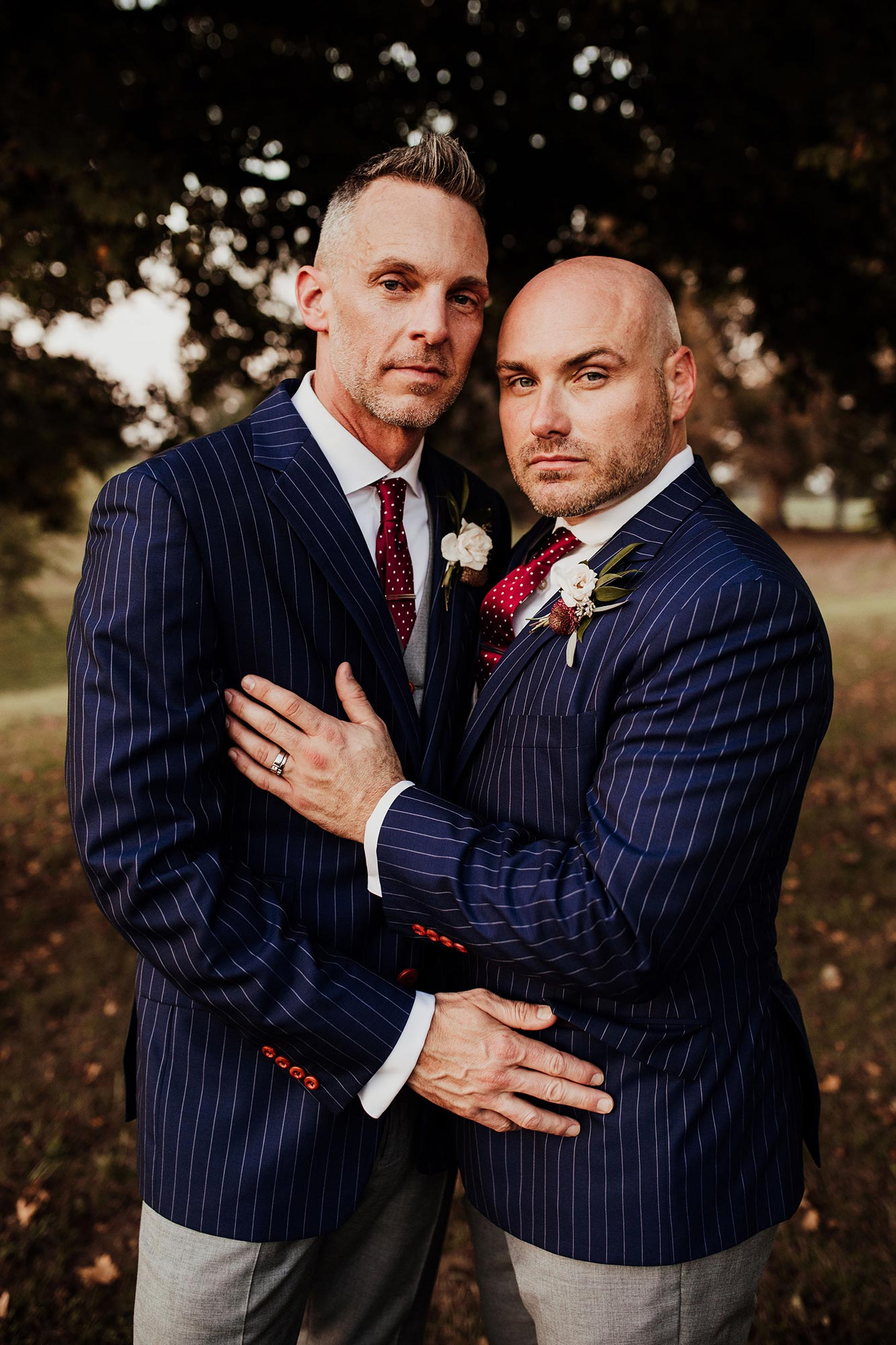 LGBTQ Louisville Kentucky Wedding at Hermitage Farm Crystal Ludwick Photo serious portrait