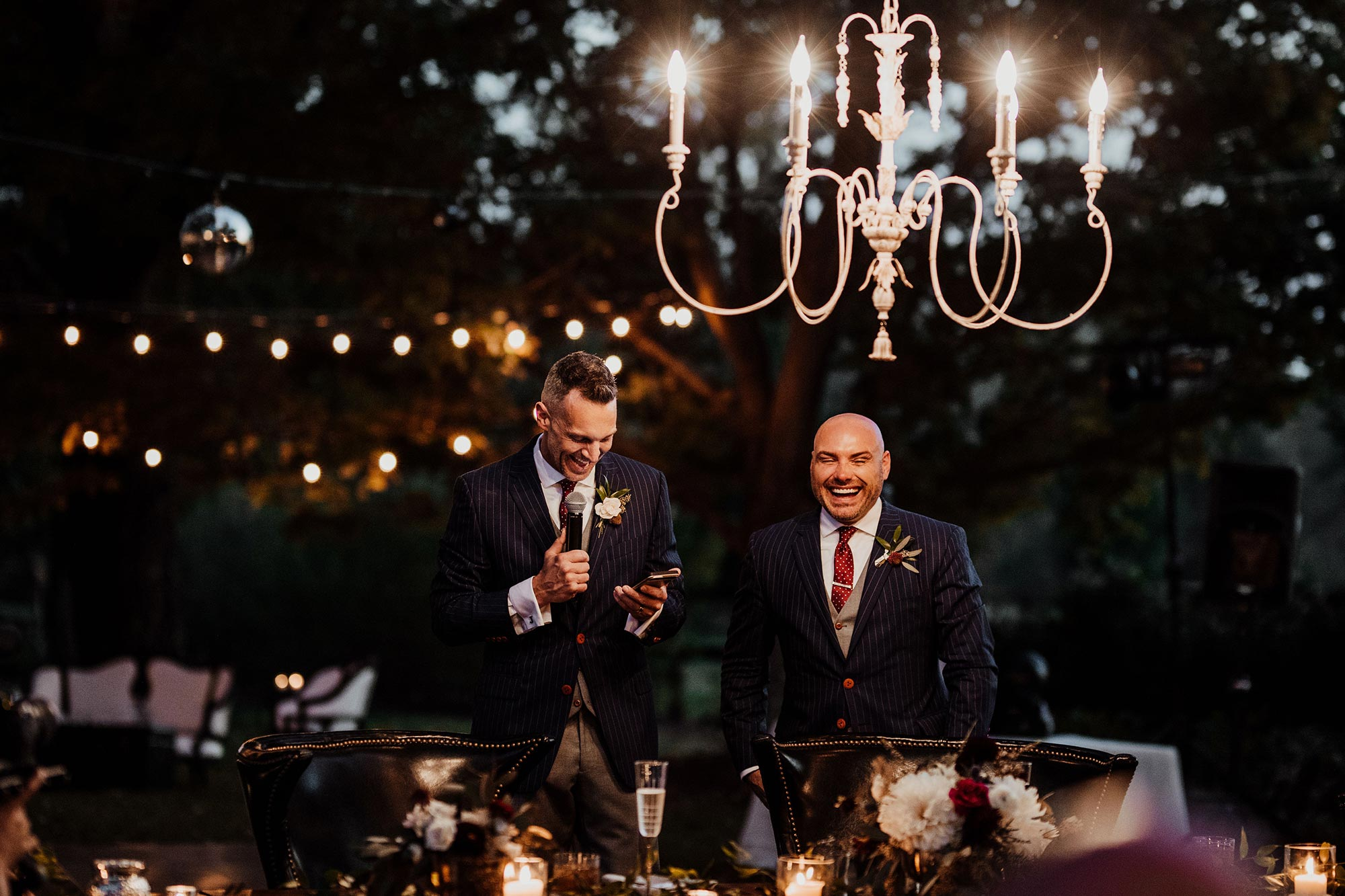 LGBTQ Louisville Kentucky Wedding at Hermitage Farm Crystal Ludwick Photo couple making speech