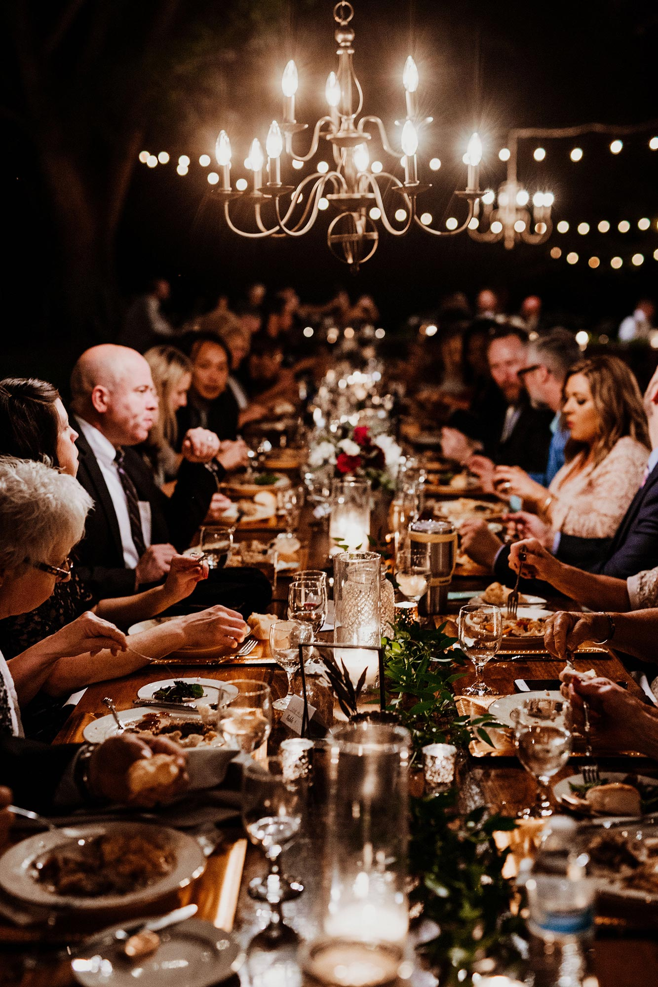 LGBTQ Louisville Kentucky Wedding at Hermitage Farm Crystal Ludwick Photo guests dining