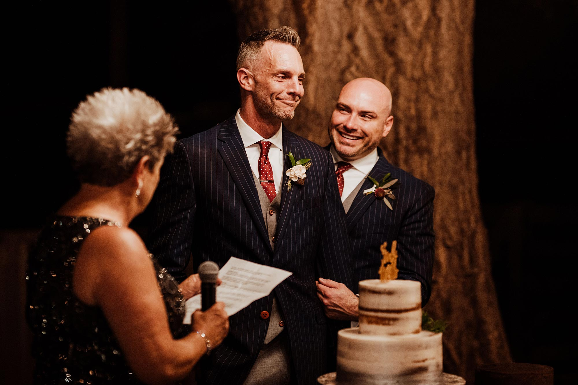 LGBTQ Louisville Kentucky Wedding at Hermitage Farm Crystal Ludwick Photo mom gives speech